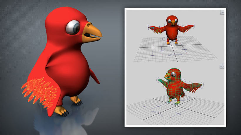 BIRD sit and fly rig for Maya