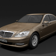 2010 Mercedes Benz S Class 3D Model
