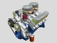 Ford 427 V8 Engine 3D Model