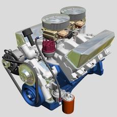 Ford 427 V8 Engine 3D Model