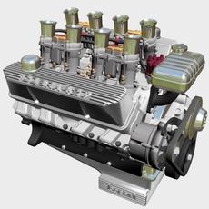 Ford 427 Weber V8 Engine 3D Model