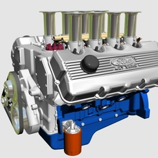 Ford 427 SOHC V8 Engine 3D Model