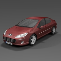 2009 Peugeot 407 3D Model