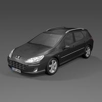 2009 Peugeot 407SW 3D Model