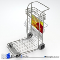 Airport Luggage Cart 3D Model