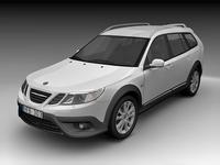 2009 Saab 9-3X Crossover 3D Model