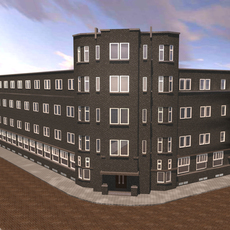 Deken van brick apartment complex 3D Model