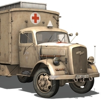 Opel Blitz - Ambulance 3D Model