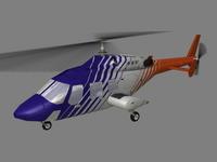 Bell 222 V3 3D Model