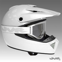 Motocross Helmet and Goggles 3D Model