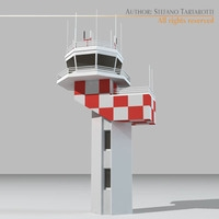 Airport control tower2 3D Model