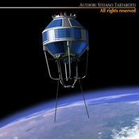 Kosmos 2251 3D Model
