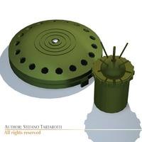 Land mines 3D Model