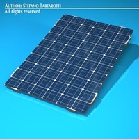 Photovoltaic module 3D Model