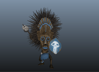 Free Tribal Warrior for Maya 1.1.0