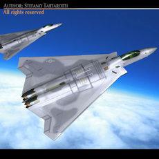 Fb-22 Aircraft 3D Model