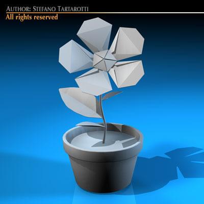 Paper flower origami 3d model spinner big black mightylinksfo