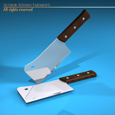 Meat cleaver 3D Model