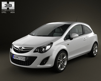 Opel Corsa 3door 2011 3D Model