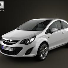 Opel Corsa 3door 2011 3D Model