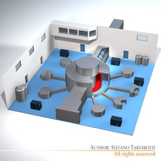 Isis neutron accelerator 3D Model