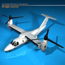 BA609 TiltRotor 3D Model