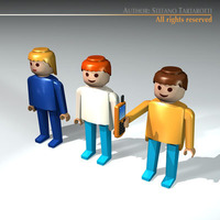 Plastic figures 3D Model