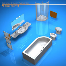 Bathroom elements 3D Model