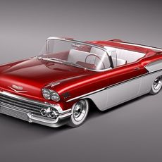 Chevrolet Bel Air 1958 convertible 3D Model