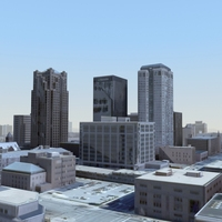 ModernCity_No2_3Dmodel 3D Model