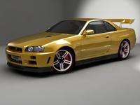 Nissan SkyLine GT R34 3D Model