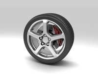 Wheel 2 3D Model