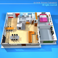 House cutaway2 3D Model