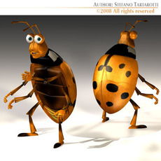 Ladybug cartoon 3D Model