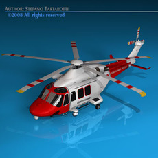 AW139 coastguard helicopter 3D Model