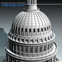 US Capitol dome 3D Model