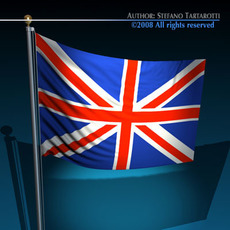 Flag United Kingdom	 3D Model