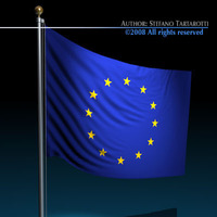Flag European Union 3D Model