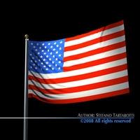 Flag Usa 3D Model
