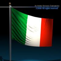 Italian Flag 3D Model