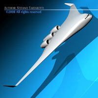 Bwb aircraft concept 3D Model