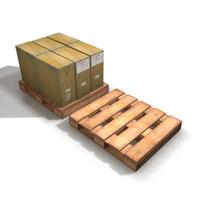 Forklift Pallet 3D Model