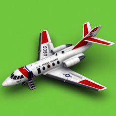 Dassault Falcon 20/200 HU-25 USCG 3D Model