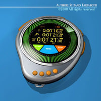 Futuristic chronometer 3D Model