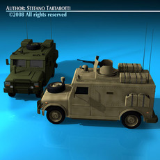 Military armored vehicle 3D Model