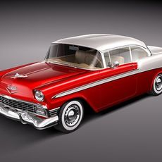 Chevrolet Bel Air 1956 hardtop coupe 3D Model
