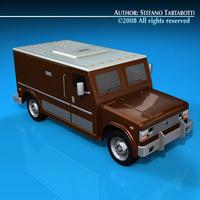 Bank truck 3D Model