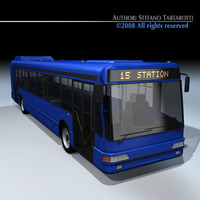 Intercity bus 3D Model