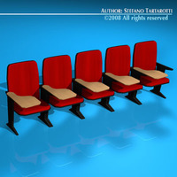 Lecture hall chair 3D Model