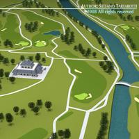 Golf course big 3D Model
